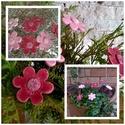 7 db Rózsaszín Árnyalatú  Mázas Kerámia Virág, Otthon, lakberendezés, Dekoráció, Kaspó, virágtartó, váza, korsó, cserép, Kerti dísz, Kerámia, Virágkötés,  Szedj egy  csokrot  a virágos kertemből! Állíts össze a saját csokrod! Tedd kosárba valamelyik öss..., Meska