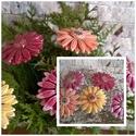 5 db Színes Gerbera Kerámia Virág, Dekoráció, Otthon, lakberendezés, Húsvéti apróságok, Kaspó, virágtartó, váza, korsó, cserép, Kerámia, Virágkötés, Szedj egy csokrot a virágos kertemből!Állítsd össze a saját csokrod! Tedd kosárba valamelyik összeá..., Meska