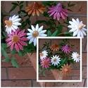 7 db Színes  Kerámia Kas Virág, Otthon, lakberendezés, Dekoráció, Kaspó, virágtartó, váza, korsó, cserép, Kerti dísz, Kerámia, Virágkötés,  Szedj egy  csokrot  a virágos kertemből!  Egész évben üde színfoltja lehet otthonodnak.A csokrot k..., Meska