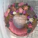 Erdő Mélyén Oliva és Púder Kerámia Virágos Kopogtató, Dekoráció, Otthon, lakberendezés, Dísz, Kerámia, Virágkötés, Ezeket a kerámia virágos kopogtatókat azoknak a kedves érdeklődőknek készítem, akik már az ajtajukb..., Meska