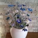Kéken Tündöklő Kerámia Virágok Vázával, Otthon, lakberendezés, Kaspó, virágtartó, váza, korsó, cserép, Kerámia, Virágkötés, Ha valami igazán különleges csokrot szeretnél! Fehér agyagból kézzel készített mázas kerámia virágo..., Meska