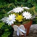A Fehér Szépsége! Kerámia Margaréta Cserépben, Dekoráció, Otthon, lakberendezés, Kaspó, virágtartó, váza, korsó, cserép, Kerti dísz, Kerámia, Virágkötés, Olyan helyre hová nagyon oda süt a nap vagy ahová sosem süt!!Mert Ő minden helyen szépen virít! Apr..., Meska