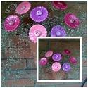 7 db Rózsaszínes-Lilás Árnyalatú  Mázas Kerámia Virág, Otthon, lakberendezés, Dekoráció, Kaspó, virágtartó, váza, korsó, cserép, Kerti dísz, Kerámia, Virágkötés,  Szedj egy  csokrot  a virágos kertemből! Állíts össze a saját csokrod! Tedd kosárba valamelyik öss..., Meska