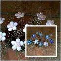 10 db Kis Kék vagy Fehér  Mázas Kerámia Virág, Esküvő, Otthon, lakberendezés, Dekoráció, Esküvői dekoráció, Kerámia, Virágkötés, Szedj egy csokrot a virágos kertemből!Állítsd össze a saját csokrod! Tedd kosárba valamelyik összeá..., Meska