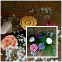 5db  Kerámia  Rózsa , Otthon, lakberendezés, Dekoráció, Kaspó, virágtartó, váza, korsó, cserép, Kerti dísz, Kerámia, Virágkötés,  Szedj egy  csokrot  a virágos kertemből!  Egész évben üde színfoltja lehet otthonodnak.A csokrot k..., Meska