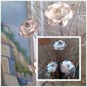 3 db Nagy  Natúr  Kerámia Virág, Otthon, lakberendezés, Dekoráció, Kaspó, virágtartó, váza, korsó, cserép, Kerti dísz, Kerámia, Virágkötés,  Szedj egy  csokrot  a virágos kertemből!  Egész évben üde színfoltja lehet otthonodnak.A csokrot k..., Meska