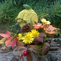 """Halloween!, """"Kerámia Virágokkal, Otthon, lakberendezés, Kaspó, virágtartó, váza, korsó, cserép, Kerámia, Virágkötés, Kézzel készített  mázas kerámia virágok ,figurák  festett drót száron , terrakotta cserépben.Száraz..., Meska"""