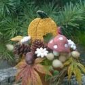 """Halloween! ,ŐSZ  """"Kerámia Virágokkal, Otthon, lakberendezés, Kaspó, virágtartó, váza, korsó, cserép, Kerámia, Virágkötés, Fehér agyagból aprólékos kézi munkával készített mázas kerámia virágok ,figurák  festett drót száro..., Meska"""