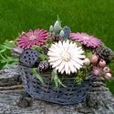 """Akciós!,Üdvözlet"""" Kerámia Virágos Asztaldísz, Otthon, lakberendezés, Dekoráció, Kaspó, virágtartó, váza, korsó, cserép, Kerámia, Virágkötés, Aprólékos kézi munkával fehér  agyagból készítettem ezeket a  kerámia virágokat .Második égetés elő..., Meska"""