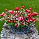 Akciós!, Piros Kerámia Virágos Asztaldísz, Dekoráció, Otthon, lakberendezés, Kaspó, virágtartó, váza, korsó, cserép, Kerámia, Virágkötés, Egy kis különleges kedvesség ! Vagy akár ünnepi asztaldísz!Aprólékos kézi munkával készült mázas ke..., Meska