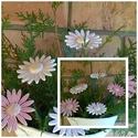 """5 db,  Hatalmas Margaréta"""" Mázas Kerámia Virág, Dekoráció, Otthon, lakberendezés, Kaspó, virágtartó, váza, korsó, cserép, Kerti dísz, Kerámia, Virágkötés,  Szedj egy  csokrot a virágos kertemből!Állítsd össze saját csokrod! Tedd kosára valamelyik összeál..., Meska"""