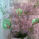 3db Zöld Flamingó Mázas Kerámia Virág, Esküvő, Otthon, lakberendezés, Dekoráció, Esküvői dekoráció, Kerámia, Virágkötés, Szedj egy csokrot a virágos kertemből!Állítsd össze a saját csokrod! Tedd kosárba valamelyik összeá..., Meska