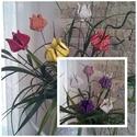 5 db Színes Tavaszi Tulipánok Kerámiából, Dekoráció, Otthon, lakberendezés, Húsvéti apróságok, Kaspó, virágtartó, váza, korsó, cserép, Kerámia, Virágkötés, Szedj egy csokrot a virágos kertemből !Állítsd össze saját csokrod! Tedd kosárba valamelyik összeál..., Meska