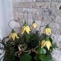 5 db Kis Sárga   Kerámia Harangvirág (tp.5), Esküvő, Otthon, lakberendezés, Dekoráció, Esküvői dekoráció, Kerámia, Virágkötés, Szedj egy csokrot a virágos kertemből!Állítsd össze a saját csokrod! Tedd kosárba valamelyik összeá..., Meska