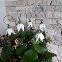 5db Kis Fehér  Kerámia Harangvirág (tp.38), Esküvő, Otthon, lakberendezés, Dekoráció, Esküvői dekoráció, Kerámia, Virágkötés, Szedj egy csokrot a virágos kertemből!Állítsd össze a saját csokrod! Tedd kosárba valamelyik összeá..., Meska