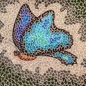 Kék pillangó, Képzőművészet , Grafika, Rajz, Fotó, grafika, rajz, illusztráció, Olyan érzés volt rajzolni, hogy képet fognak alkotni együtt, de nem folynak össze. Megvásárolható a..., Meska