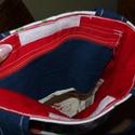 Retro kalocsai mintás táska, Ruha, divat, cipő, Táska, Laptoptáska, Szatyor, Varrás, Ez a  kalocsai mintás táska anyaga évekig feküdt egy polcon , míg én ráleltem. Kombináltam a régit ..., Meska