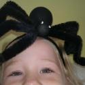 Halloween pók hajpánton, jelmez, Ruha, divat, cipő, Hajbavaló, Hajpánt, Gyöngyfűzés, Varrás, Eladó ez a halloween-re készült rémisztő pók hajpánton (vagy anélkül). A mérete 21 cm lábakkal együ..., Meska