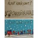 KIFESTHETŐ képeslap gyerekeknek, fából - karácsonyi táj, Képeslap, album, füzet, Baba-mama-gyerek, Képeslap, levélpapír, Famegmunkálás, Festészet, Lepd meg szeretteidet saját készítésű képeslappal! Ezeket az üdvözlőlapokat gyermekek számára terve..., Meska