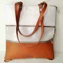 Zip-Up 3 részből álló bőr-textil táska, Táska, Hátizsák, Laptoptáska, Válltáska, oldaltáska, , Meska