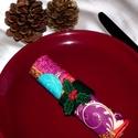 Karácsonyi szalvétagyűrűk, Dekoráció, Hímzés, Varrás, Gyönyörű, filcből készült ünnepi hangulatú szalvétagyűrű, hogy a karácsonyi vacsora még meghittebb ..., Meska