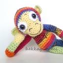 Pracli - amigurumi, horgolt majom baba, Baba-mama-gyerek, Játék, Játékfigura, Plüssállat, rongyjáték, Pracli, az amigurumi, horgolt kismajom  Pajkos kis majom az ölelgetős-hurcolós játékok fajtájából.  ..., Meska