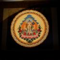 Buddha, Dekoráció, Képzőművészet , Festmény, Akril, Festészet, A képen lévő mandala egy ülő buddhát ábrázol, melyet kérésre másféle színekkel is meg tudok festeni..., Meska