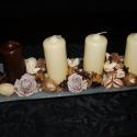 Csoki vanillia adventi koszorú, Dekoráció, Karácsonyi, adventi apróságok, Ünnepi dekoráció, Karácsonyi dekoráció, , Meska