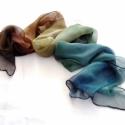 Geo ombré festésű hernyóselyem chiffon stóla, Ruha, divat, cipő, Női ruha, Estélyi ruha, Selyemfestés,  Ez egy megrendelést jelentő vásárlás.  Egyedi 1 db, színben, 55x220 cm hernyóselyem mousseline 3.5..., Meska