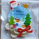 Karácsonyi díszcsomagolás , Dekoráció, Karácsonyi, adventi apróságok, Ünnepi dekoráció, Ajándékzsák, Mindenmás, 10 x 10 cm  Önzáras, Meska