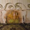 Fenyőfa Akasztó kulcstartó akasztó kovácsolt vas Lovas, Dekoráció, Bútor, Ékszer, óra, Konyhafelszerelés, Festett tárgyak, Famegmunkálás, Hermaresz dekor  Kézzel készült fenyőfa alapanyagból,  különleges fali kulcstartó kovácsoltvas rész..., Meska