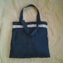 Szaladgálós, bevásárlós táska görögös hímzéssel, Táska, Szatyor, Válltáska, oldaltáska, , Meska