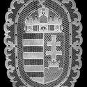Magyar  címer, Dekoráció, Képzőművészet , Kép, Textil, , Meska