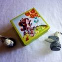 Boldogság kék madara dobozka- 3D, Képzőművészet, Játék, Dekoráció, Festészet, Papírművészet, A dobozkát a Boldogság kék madara című festményemmel díszítettem, PDF formátumba szerkesztettem, íg..., Meska