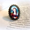 Mona Lisa- gyűrű, Ékszer, óra, Képzőművészet, Illusztráció, Gyűrű, Üveg mögé zárt mesék. Hírességek arcképcsarnoka sorozat. Festményem egy részletét tettem üveg alá, s..., Meska