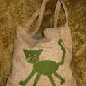 Macskás szatyor, Táska, Mindenmás, Szatyor, Varrás, Újrahasznosított alapanyagból készült termékek, Pakolásra, cipelésre kiválóak a macskás szatyrok különböző textúrákkal rendelhetőek.  A szatyrok be..., Meska