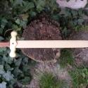 Játék fakard, Játék, Fajáték, Famegmunkálás, Nagyon erős kőrisfa penge, szilfa markolat, bálványfa markolatvédő. Mérete:70x16x2cm, Meska