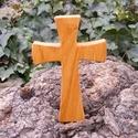 Fakereszt , Mindenmás, Vallási tárgyak, Famegmunkálás, Cseresznyefából készült, falra akasztható kereszt. Mérete:19x12x2cm, Meska