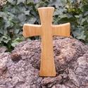 Fakereszt , Mindenmás, Vallási tárgyak, Famegmunkálás, Juharfából készült, falra akasztható kereszt. Mérete:19x12x2cm, Meska