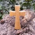Fakereszt , Mindenmás, Vallási tárgyak, Famegmunkálás, Juharfából készült, falra akasztható kereszt. Mérete:13x7.5x2cm, Meska