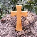 Fakereszt , Mindenmás, Vallási tárgyak, Famegmunkálás, Cseresznyefából készült, falra akasztható kereszt. Mérete:13x7.5x2cm, Meska
