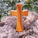 Fakereszt , Mindenmás, Vallási tárgyak, Famegmunkálás, Szilvafából készült, falra akasztható kereszt. Mérete:13x7.5x2cm, Meska