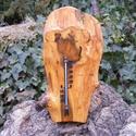 Fali hőmérő, Mindenmás, Otthon, lakberendezés, Kulcstartó, Famegmunkálás, Kül, és beltéri hőmérő. Színtelen olajjal kezelve. Mérete:32x16x2cm  , Meska