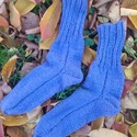 Kézzel kötött zokni, Ruha, divat, cipő, Kendő, sál, sapka, kesztyű, Cipő, papucs, Kötés, Puha, meleg, vastag, téli, kézzel kötött zokni. Mérete: 38-40-es lábra., Meska