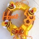 Méhecskék virágokkal-AJTÓDÍSZ, Dekoráció, Otthon, lakberendezés, Falikép, Varrás, Virágkötés, Ajándék :) Advent napjain minden vásárlómnak! :) Adventi kalendárium ablakait nyitogatva...:)  Naps..., Meska