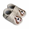 Bőr puhatalpú babacipő - Kutyusos, Baba-mama-gyerek, Ruha, divat, cipő, Gyerekruha, Baba (0-1év), Varrás, Teljesen bőr babacipő, mely ideális a járni tanuló babáknak, vagy nagyobb gyermekeknek.  15-26-os m..., Meska