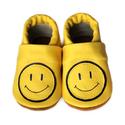 Bőr puhatalpú babacipő - Vidám, Baba-mama-gyerek, Ruha, divat, cipő, Gyerekruha, Baba (0-1év), Varrás, Teljesen bőr babacipő, mely ideális a járni tanuló babáknak, vagy nagyobb gyermekeknek.  15-26-os m..., Meska