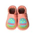 Bőr puhatalpú babacipő - Hímes tojás / Barack, Baba-mama-gyerek, Ruha, divat, cipő, Cipő, papucs, Húsvéti apróságok, Varrás, Teljesen bőr babacipő, mely ideális a járni tanuló babáknak, vagy nagyobb gyermekeknek.  15-26-os m..., Meska