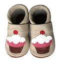 Bőr puhatalpú babacipő - Muffin / Bézs, Baba-mama-gyerek, Ruha, divat, cipő, Gyerekruha, Baba (0-1év), Varrás, Teljesen bőr babacipő, mely ideális a járni tanuló babáknak, vagy nagyobb gyermekeknek.  15-26-os m..., Meska