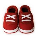 Bőr puhatalpú babacipő - Sportos-Piros, Baba-mama-gyerek, Ruha, divat, cipő, Cipő, papucs, Varrás, Teljesen bőr babacipő, mely ideális a járni tanuló babáknak, vagy nagyobb gyermekeknek.  15-26-os m..., Meska